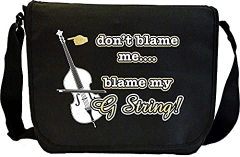 Double Bass Blame My G String - Sheet Music Document Bag Sacoche de Musique MusicaliTee