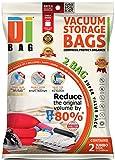DIBAG - Vakuumbeutel - Vakuum Aufbewahrungsbeutel - 2 Vakuum Kleiderbeutel - Beutelgröße: 122x89 cm - Kompressionsbeutel zur Aufbewahrung von Kleidung , Bettdecken , Reise , Bettwäsche , Kissen .