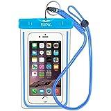 EOTW Housse étanche, Certifiée IPX8 pour Téléphone de taille égale et inférieure à 6'', argent, écran solaire bâton, carte/ID etc, idéal pour natation, la plage, pêche, la randonnée (Bleu)