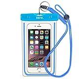 EOTW IPX8 Handytasche Wasserdicht Universal Tasche Kompatibel mit iPhone 8 Plus/6/5s, Huawei P20 Pro/Mate 10, Xiaomi Mi 8/Redmi Note 7, Wasser- & staubdichte Hülle für Handys bis zu 6,5 Zoll, Blau
