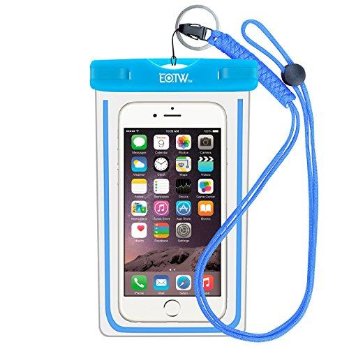 EOTW IPX8 Handytasche Wasserdicht Universal Tasche Kompatibel mit iPhone 8 Plus/6/5s, Huawei P20 Pro/Mate 10, Xiaomi Mi 8/Redmi Note 7, Wasser- und staubdichte Hülle für Handys bis zu 6,5 Zoll, Blau - Galaxy S3 Samsung Case Waterproof