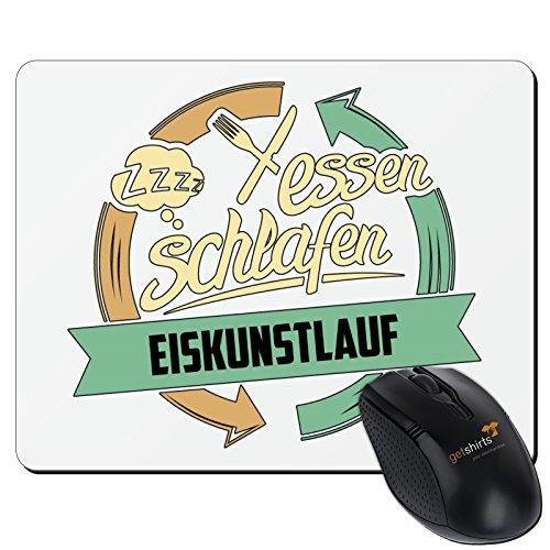 getshirts-rahmenlos® Regali-tappetino per il mouse-Sport Pattinaggio bianco