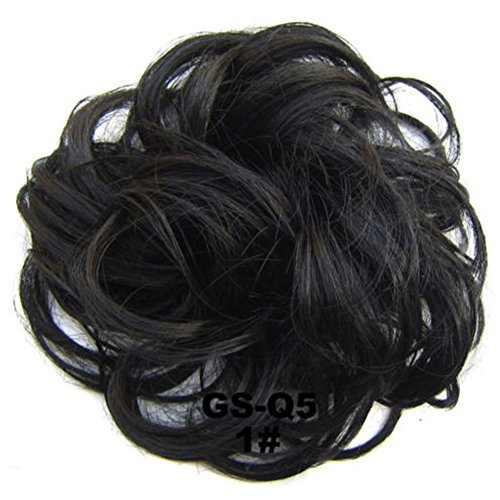 UxradG lockige unordentliche Haargummis, Haarknoten, Dutt, Haarverlängerung, natürliches lockiges...