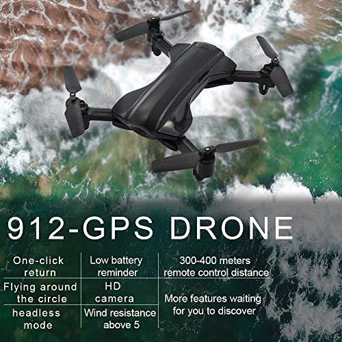 ACHICOO 912 RC Hubschrauber Professionelle 5G WiFi GPS Borstelloze Quadrocopter mit 1080 P HD Kamera RC Drohne Geschenk Speelgoed (Hubschrauber 912)