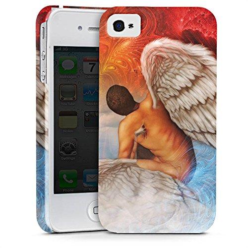 Apple iPhone X Silikon Hülle Case Schutzhülle Engel Kunst Blau Rot Premium Case glänzend