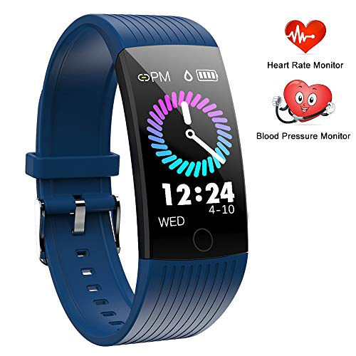 Fitness Tracker, Orologio Fitness conCardiofrequenzimetro, Smart Watch Polsino Pedometro per Uomo Donna, Activity Tracker Pressione Sanguigna Contapassi Calorie Impermeabile IP67