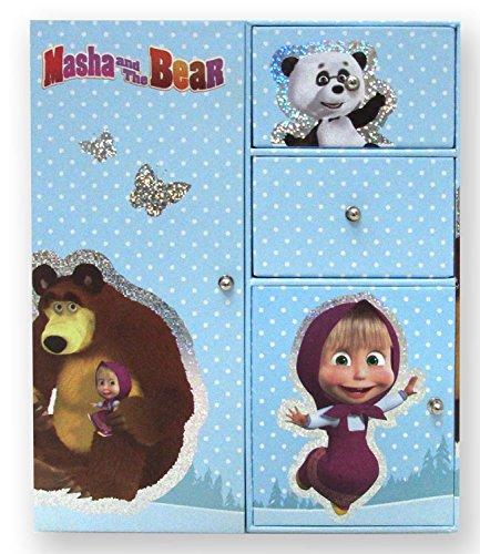 Masha y el Oso - Taquilla Doble Glitter (Cife 40176)