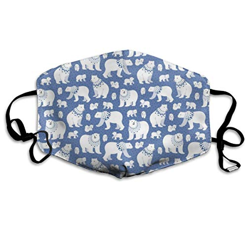 Blue Polar Bear Stars Anti Dust Mask Anti Pollution Washable Reusable Mouth Masks - Star Womens Hoodie