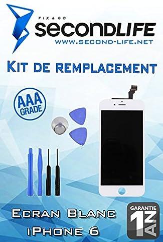 Kit Remplacement Ecran BLANC pour Apple iPhone 6 (4.7