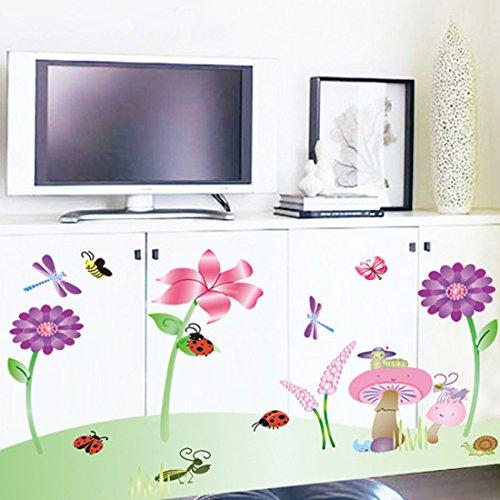 mariposas-setas-girasoles-libelulas-pegatinas-de-pared-extraible-adhesivo-para-pared-papeles-casa-vi