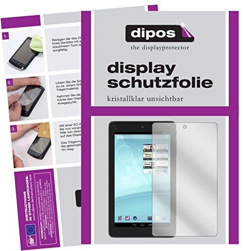 dipos I 2X Schutzfolie klar passend für Trekstor Surftab Breeze 7.0 Quad Folie Bildschirmschutzfolie