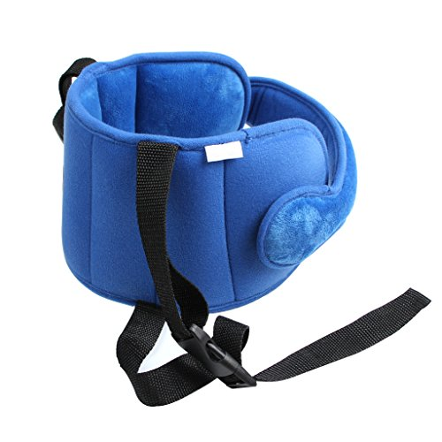 ALINICE Adjustable Toddler Car Seat Head Support Band, Carseat Straps Cover, Safety Car Seat Neck Relief (blue)