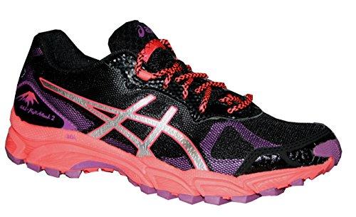Asics Gel Fuji Attack 2 Damen Trail Laufschuhe Trekking black/lightning/diva/pink