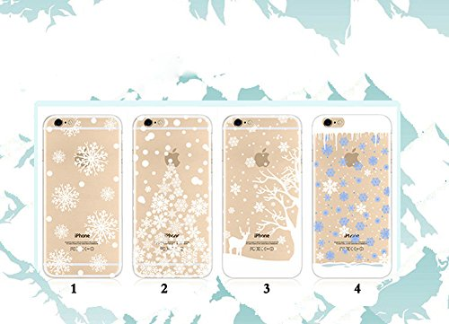 Moonmini® Christmas Tree Schermo TPU Soft Cover Custodie Della Pelle Copertura Cassa Protect Case Cover Custodia per Apple iPhone 6 Plus / 6S Plus - Stile 4 Stile 3