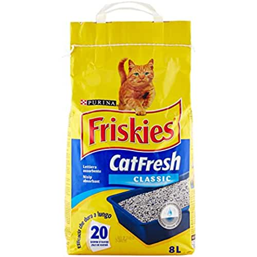 regalos kawaii gato Friskies - CatFresh Classic - Arena para gatos - 8 l