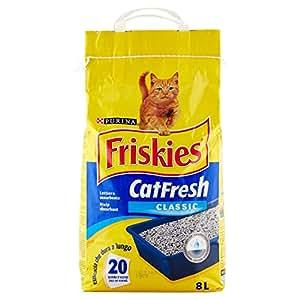 Friskies Cat Fresh Classic Lettiera Assorbente, 8 l, 5 kg