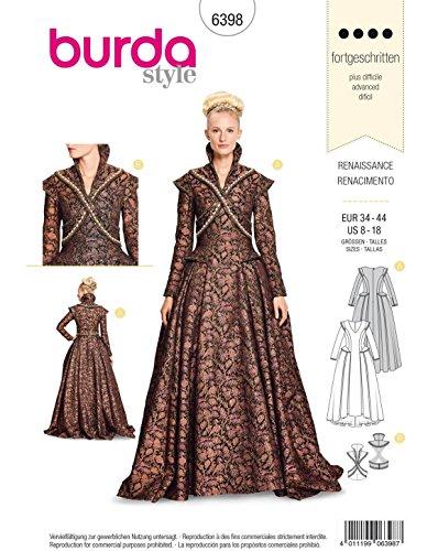 ster Renaissance-Outfit (Damen, Gr. 34-44) Level 4 fortgeschrittene ()