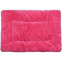 Manta de mascotas - SODIAL(R) Manta de sociedad de gato perro colchoneta suave Colcha de lana calida (rojo S)