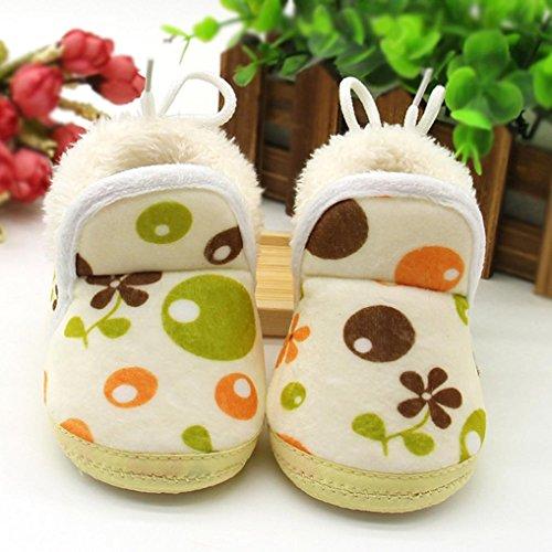 Babyschuhe Longra Kleinkind neugeborenes Baby Cartoon Stiefel Schuhe weiche Sohle Prewalker lauflernschuhe krabbelschuhe warme Schuhe Yellow