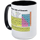 CafePress–Tableau périodique des éléments–Mug à café, Large 15g Blanc Tasse à café, Céramique, White/Black Inside, L