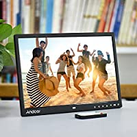 "‏‪Andoer 15"" TFT LED Digital Photo Frame Screen Desktop Album Display Image 1080P MP4 Video MP3 Audio TXT eBook Clock Calendar 1280 * 800 HD with Infrared Remote Control 7 Touch Key Support Auto Mixed‬‏"