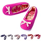 TWINS Fashion « Rio » schöne & süße Damen-Hausschuhe I Ballerinas I Pantoffeln I Slippers - Plüsch Baumwolle rutschfest - diverse Farben (36/37, Pink)