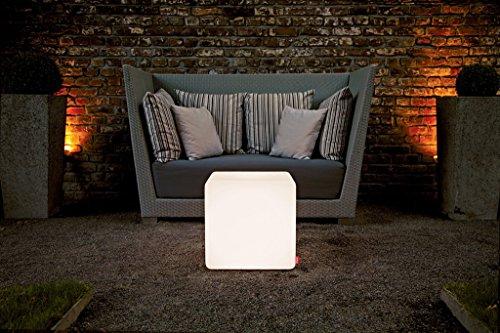 moree Bodenleuchte Cube Outdoor, Weiß, Kunststoff, 06-06-01