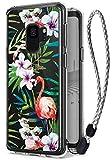 Ringke Galaxy S9 Hülle, Fusion [Deco Tropical Flamingo + Handyhülle mit Handschlauf] Transparenten PC Rückseite [Fallschutz] Muster Austauschbar Einfügen Folie Set für Samsung Galaxy S9 Case