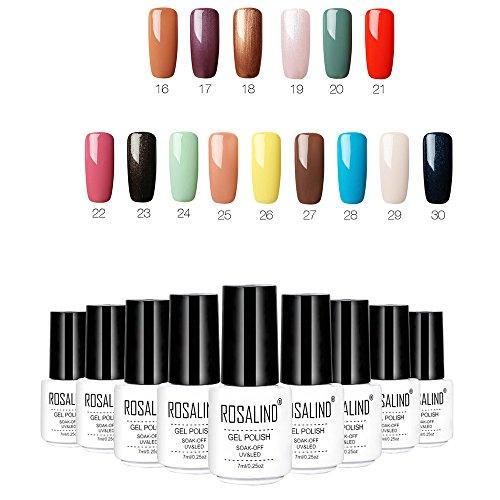 15 Colores de la Esmaltes de Uñas en Gel Permanente Baratos por ESAILQ