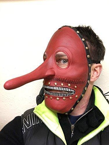 Slipknot Style Chris Fehn Maske Latex Lange Nase Reißverschluss Gesicht Ausgefallen Party Masken (Slipknot Reißverschluss)