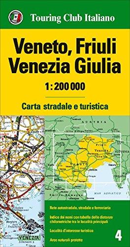 venetien karte Friaul, Venetien Strassenkarte, Karte, Landkarte, TCI (Touring