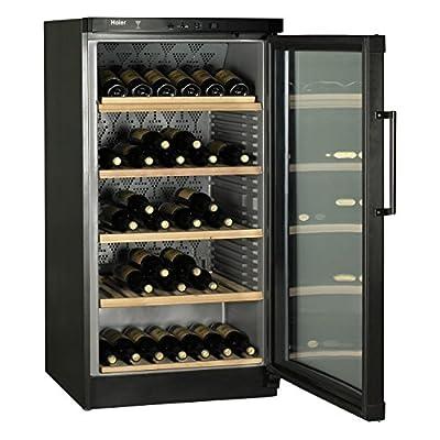 Haier jc-298ga Freestanding Wine Fridge Black 120bottle (S) A–Wine Cooler (Freestanding, Black, Grey, 5Shelves, 1Door (S), Stainless Steel) by Haier
