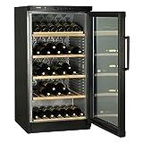 Haier JC-298GA refroidisseur à vin Autonome Noir 120 bouteille(s) Refroidisseur de vin compresseur A - Cave à vin (Autonome, Noir, Gris, 5 étagères, 1 portes(s), Acier inoxydable)