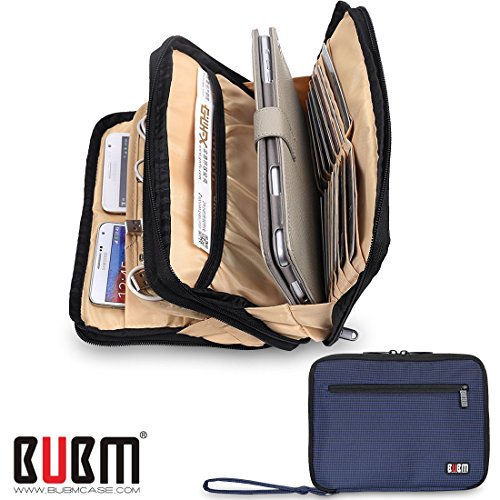 bubm-double-layer-padded-travel-electronic-case-packing-cubes-for-ipad-mini-makeup-bag-electric-blue