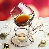 bar@drinkstuff - Sistema para calentar el cognac o el brandy con copa incluida. Incluye una copa de brandy, el soporte para el calentador y el soporte de la vela. Copa globo, copa para brandy, cognac, armagnac o calvados
