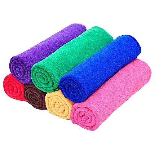 Possec multiuso in microfibra ad asciugatura rapida, lavaggio, panno pulizia auto, nuoto asciugamano 25*25cm, 10pezzi