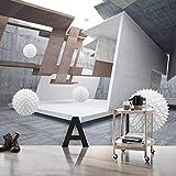 Benutzerdefinierte Wandbild moderne kreative Stereo geometrischen Raum weißer Ball Hintergrund Wand Fototapete Wohnzimmer Schlafzimmer Dekor 5D 300x200cm