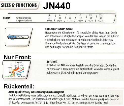 J&N - winddichte Herren Laufjacke (JN440) Schwarz/Säuregelb