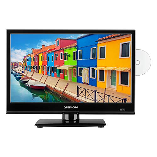 MEDION E11911 47 cm (18,5 Zoll) Fernseher (HD Triple Tuner, DVB-T2 HD, integrierter DVD-Player, CI+, Mediaplayer) (Zoll Mit Dvd Tv 24)