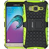 ykooe Galaxy Grand Prime Hülle, (TPU Series) Samsung Grand Prime Hybrid Handyhülle Drop Resistance Handys Schutz Hülle mit Ständer für Samsung Galaxy Grand Prime (Grün)