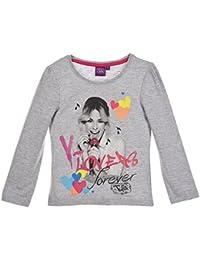 Tee shirt manches longues fille Violetta Gris de 6 à 12ans