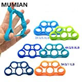 6Pcs/set Finger Gripper Resistance Bands Finger Stretcher Silicone Hand Exerciser Grip Strength Wrist Trainer Fitness Equipme