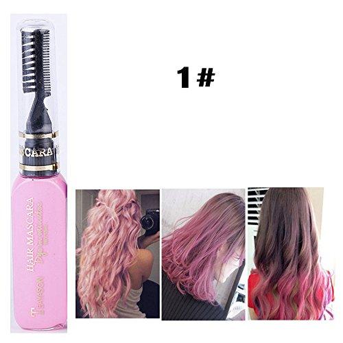 DIY Langlebige Temporäre Schimmer Haar Farben Creme mit Kämme Haare Färben Kreide Haartönungen Rosa