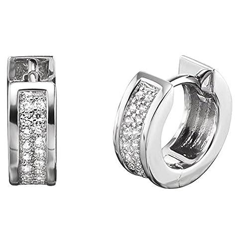 engelsrufer–Boucles d'oreille Boucles d'oreilles argent rhodié 925/1000de Zircones Blanc de Lena Zi CR