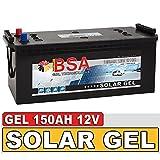 Gel Batterie 150Ah 12V Blei Gel Solarbatterie Wohnmobil Boot Versorgungsbatterie statt 120Ah 130Ah 140Ah