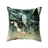 Aiserkly 45x45 cm Geometrisches Design Kissen Platz Dekokissen Kissenbezug Pillowslip