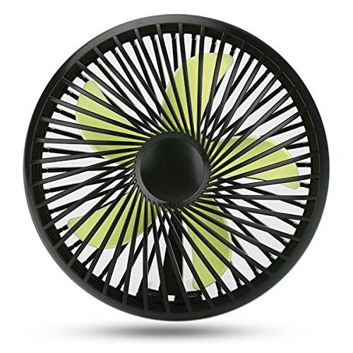 Preisvergleich Produktbild Nosii Micro Mini USB Fan Doppelklingen Ruhig Einstellbare Lüfter Für Home Office Elektrische Computer Schreibtisch Fans Geschenk Für Kinder (Color : Black)