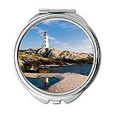 Yanteng Spiegel, Compact Mirror, Architektur Strand Küste, Taschenspiegel, Tragbare Spiegel