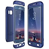 CE-Link für Samsung Galaxy S6 Edge Hülle Hardcase 3 in 1 Handyhülle Ultra Dünn Hartschale 360 Grad Full Body Schutz Schutzhülle Bumper - Blau