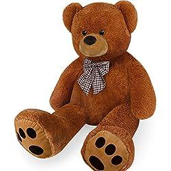 Deuba Orsacchiotto gigante XL 100 cm marrone orso di peluche giocattoli bambini teddy bear
